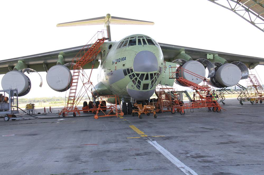 Il-76MD-90A military transport aircraft