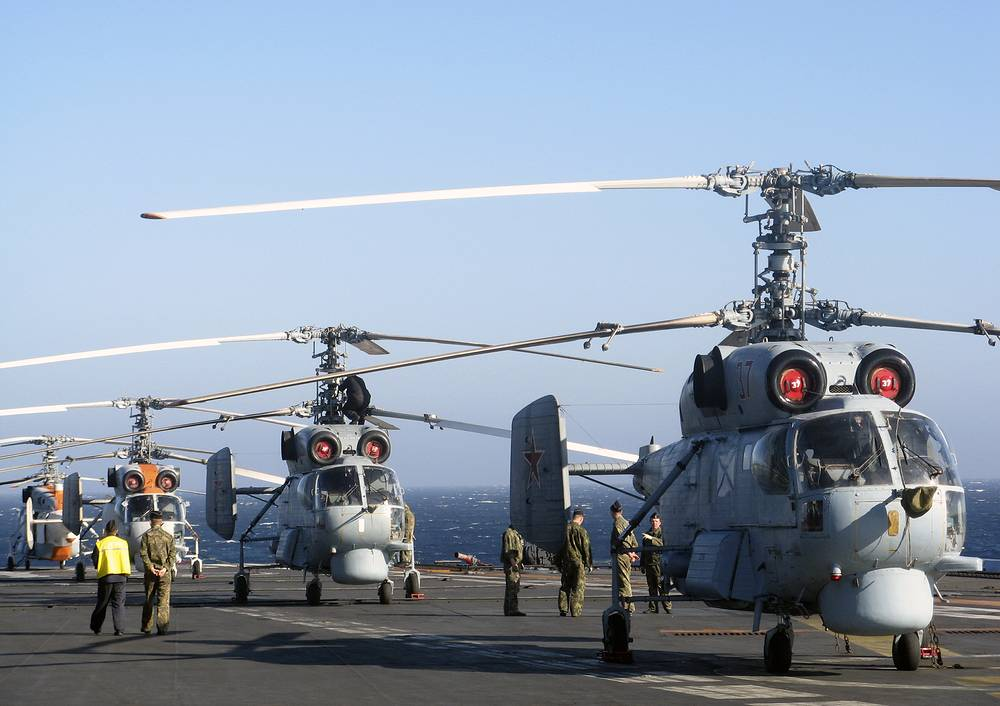 Kamov Ka-27 anti-submarine and transport helicopters