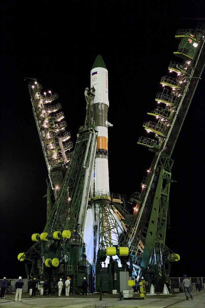 Soyuz-U carrier rocket launch