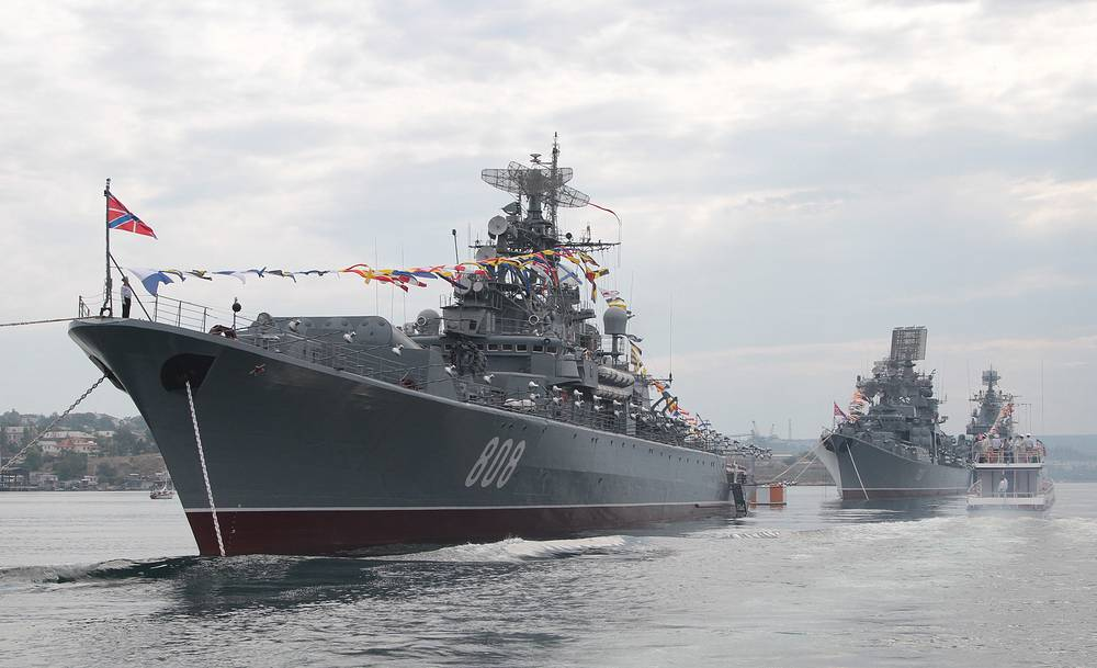 Navu Day parade rehearsal in Sevastopol