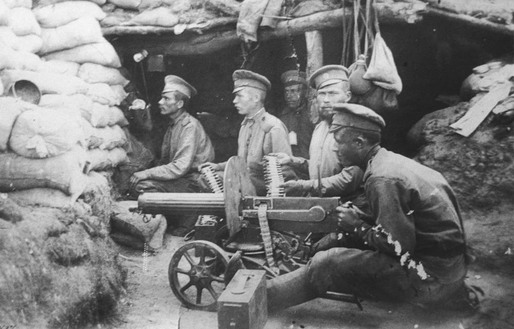 The First World War started on July 28, 1914. Russia entered the war with its first invasion of East Prussia on August 17, 1914