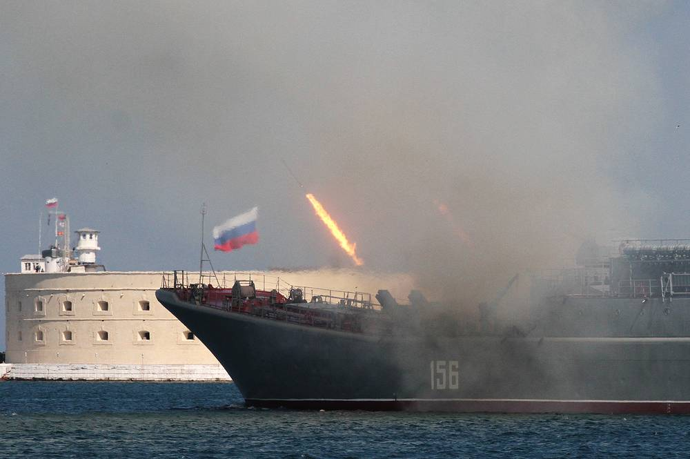 Black Sea Fleet's ships take part in the Russian Navy Day parade in Sevastopol