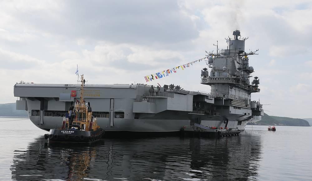Admiral Kuznetsov heavy aircraft carrier in Severomorsk