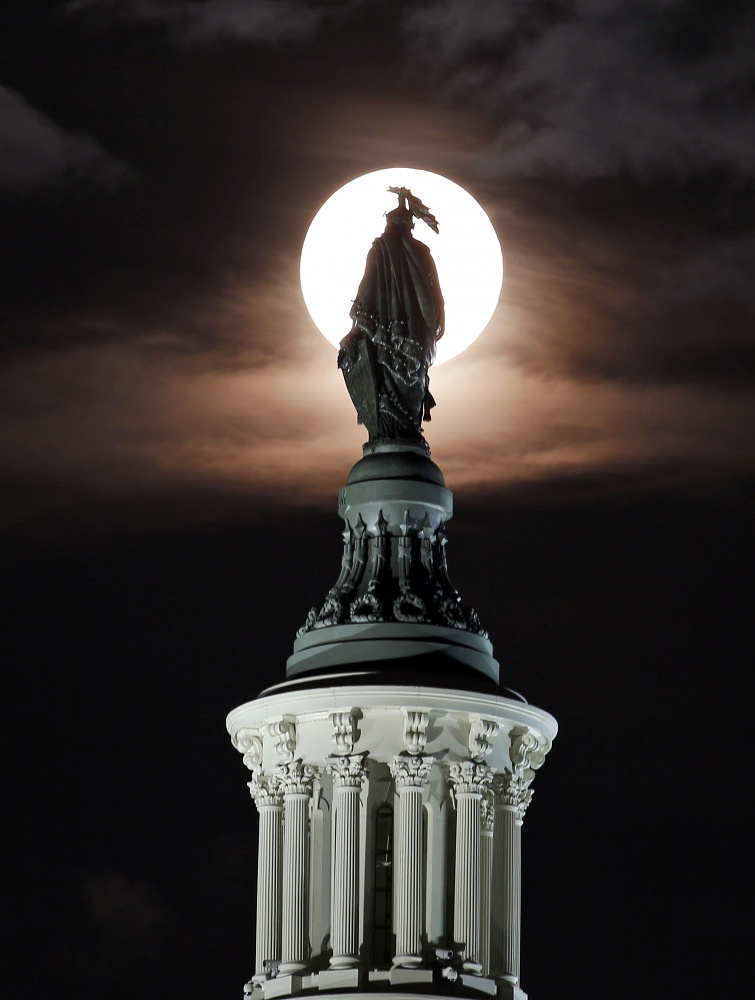 Supermoon in Washington, DC, USA