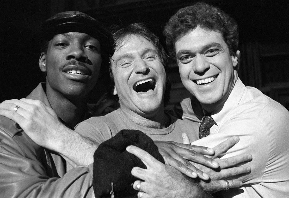 Robin Williams, center, with Eddie Murphy, left, and Joe Piscopo