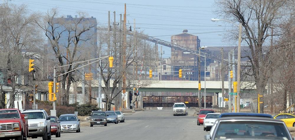 Michael Jackson's native Gary, Indiana, suffered a huge loss of residents because of a rise in unemployment. Many residential buildings today stay empty
