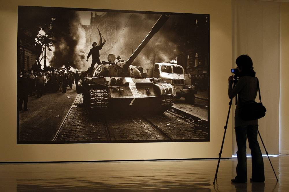 Josef Koudelka's image of the Soviet-led invasion of Prague in 1968