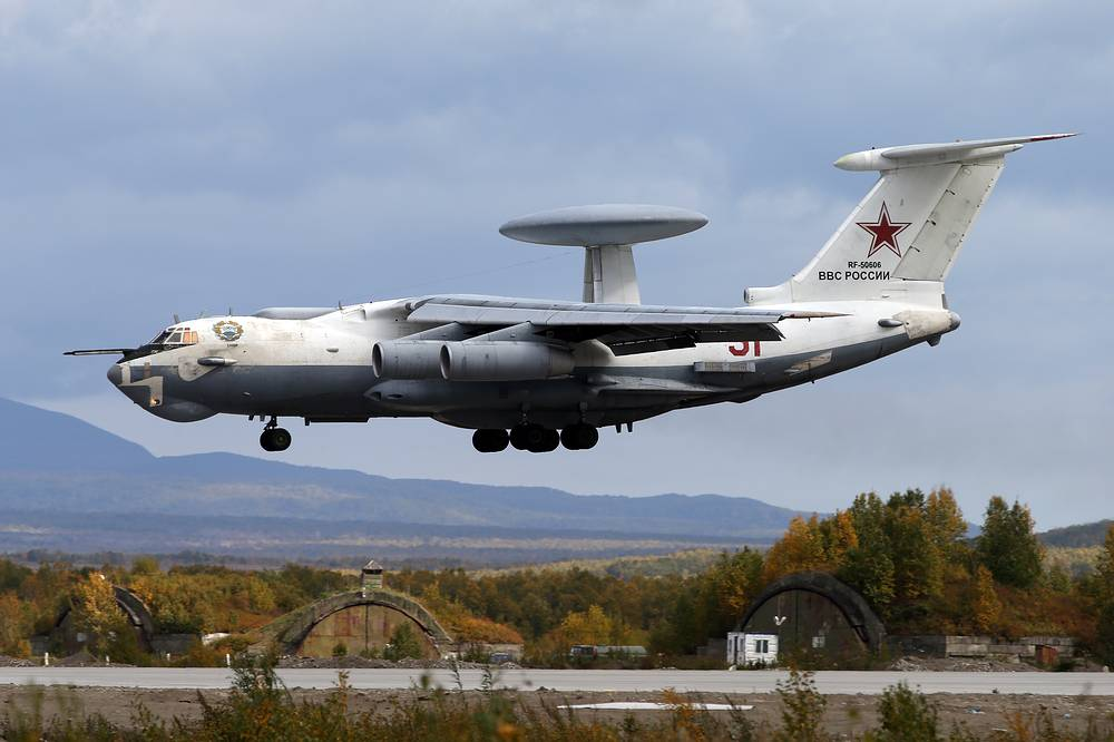 A-50 aircraft seen during the military drills