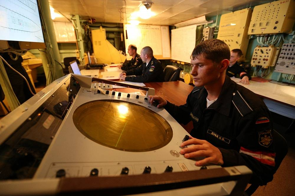 The most modern equipment was used during the exercises. Photo: the crew of the Varyag cruiser