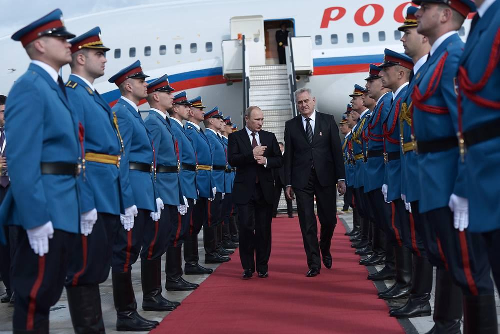 Vladimir Putin and Tomislav Nikolic