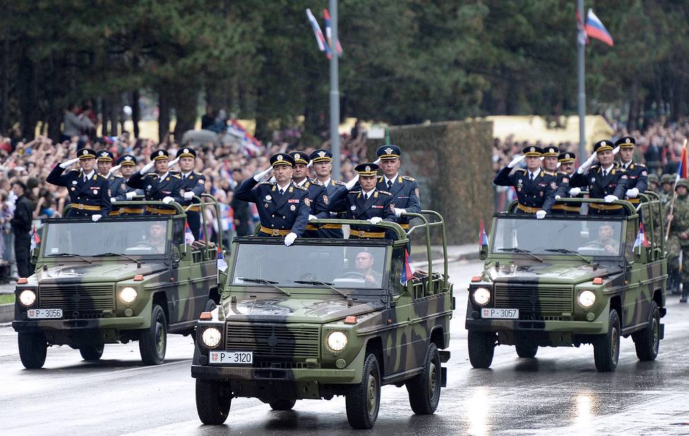 Military parade in Belgrade, 16 October 2014