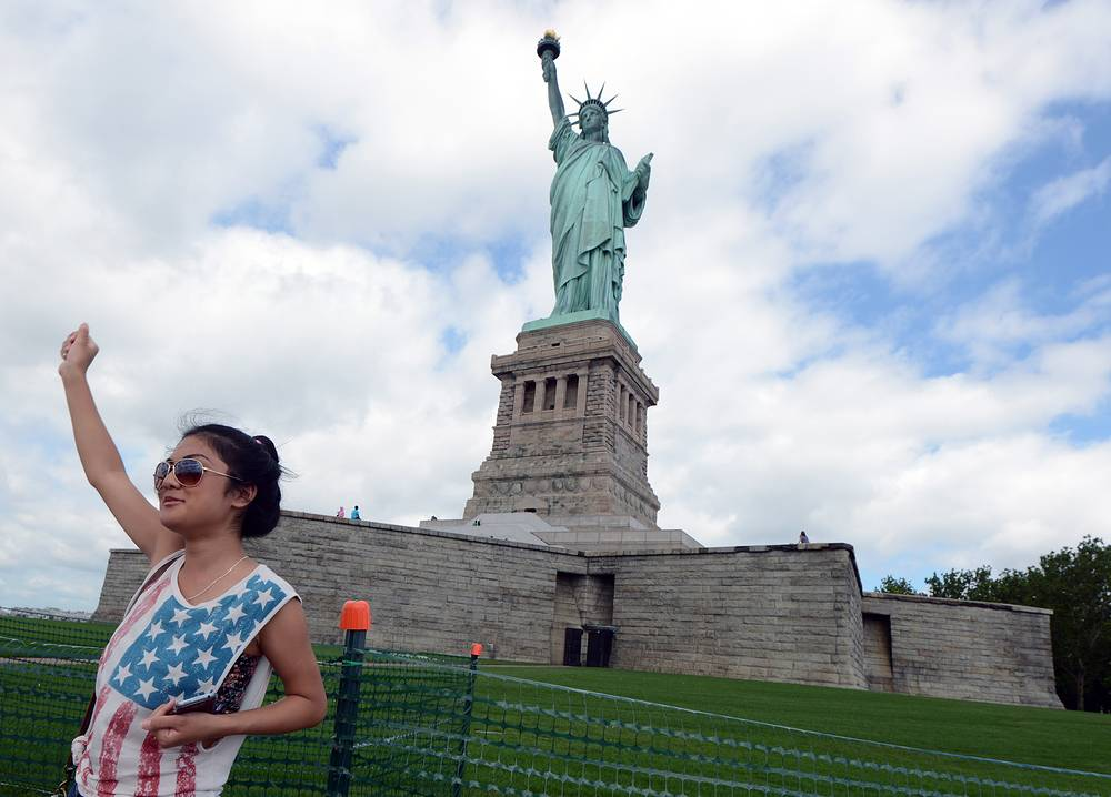 The statue, designed by Frederic Auguste Bartholdi was a gift to the United States from the people of France. In 1984, the Statue of Liberty was designated a UNESCO World Heritage Site