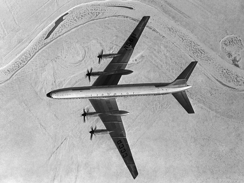 Tu-114 passenger plane, 1958