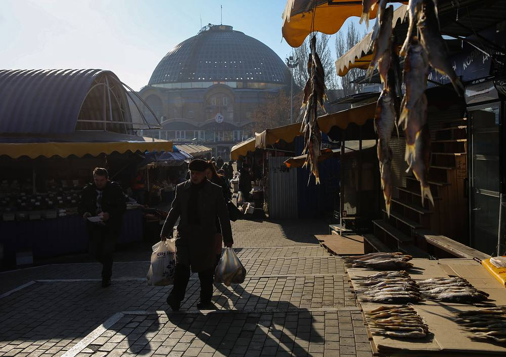 Following that statement, Ukraine's self-proclaimed republics' leaders said Minsk agreements didnt work. Photo: A marketplace in Donetsk