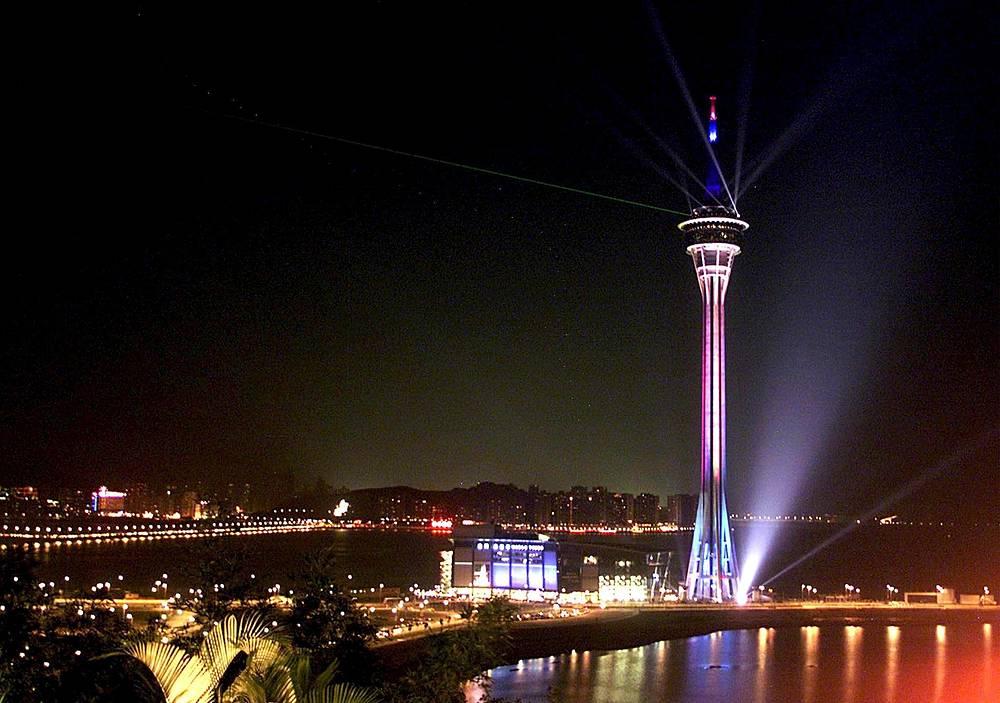 Photo: The 338-metre high Macau Tower in China