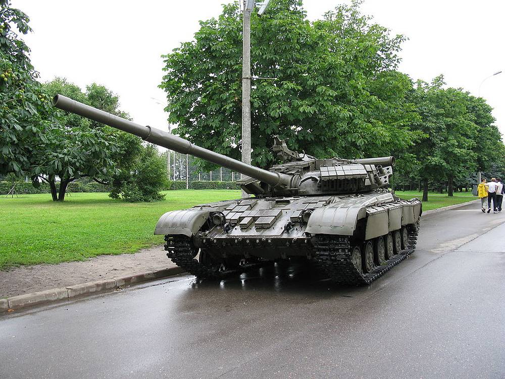 T-64 is a Soviet main battle tank introduced in the early 1960s. T-64A model of 1967 introduced the 125-mm smooth-bore gun