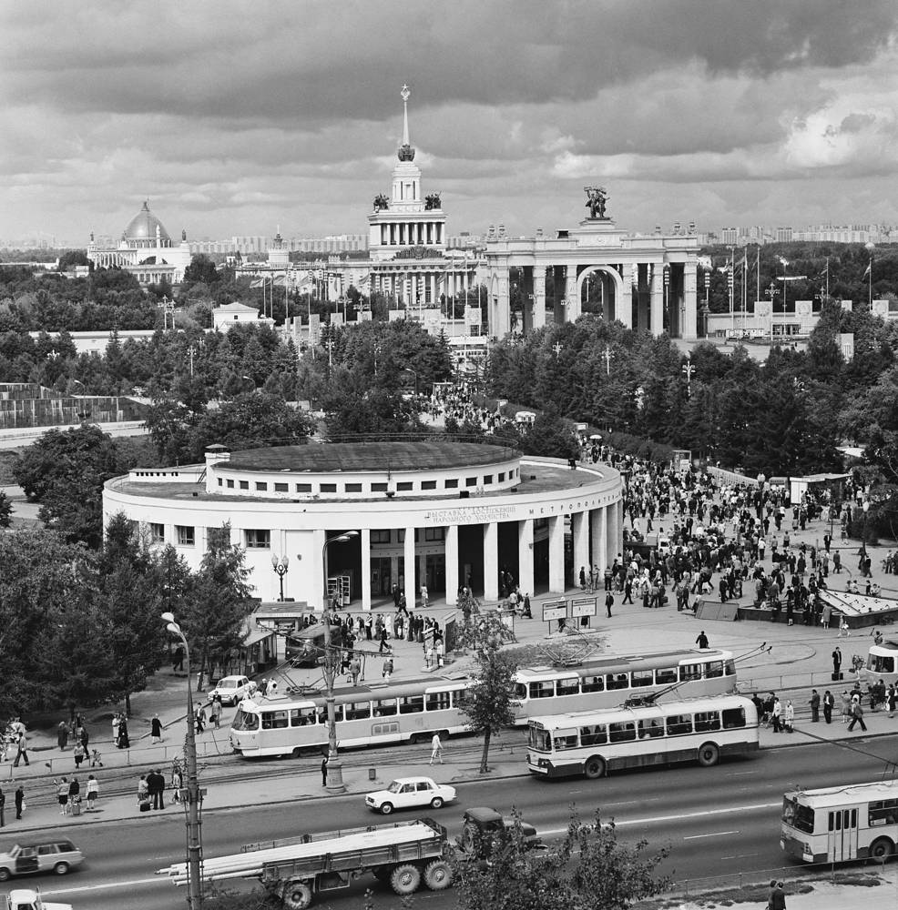 Photo: VDNKh metro station, 1977