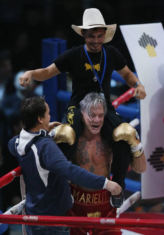 """""""Boxing is a serious part of my life,"""" Rourke was quoted as saying. """"It taught me respect and determination, patience and concentration. I always dreamed of fighting a match in Russia."""""""