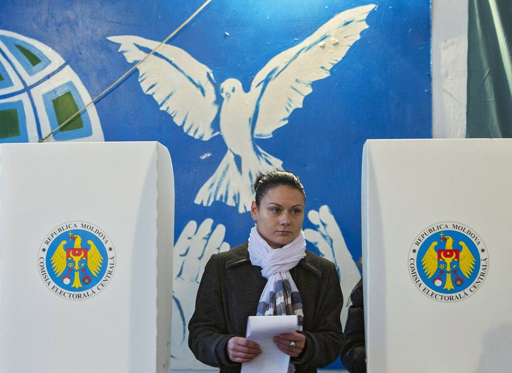 Campaigning focused on whether the country wedged between Romania and Ukraine should align with Russia or the West
