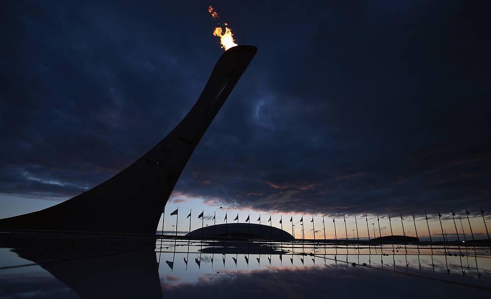 The Olympic cauldron in Sochi