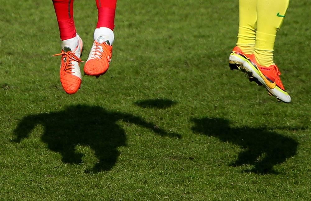 A Russian football championship match between FC Lokomotiv Moscow and FC Anzhi Makhachkala