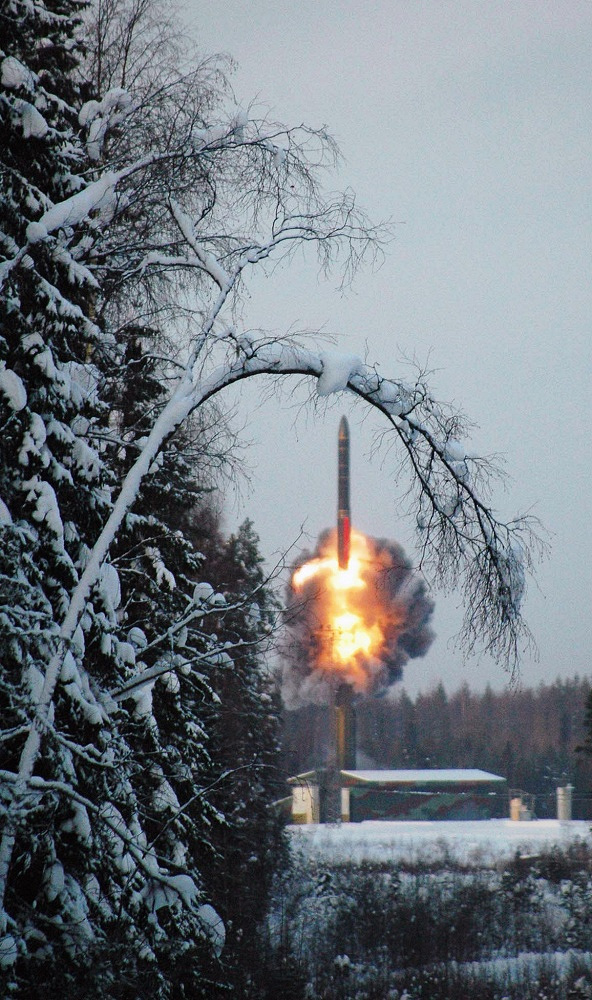 RT-2PM2 Topol-M (NATO reporting name SS-27 Sickle B) is the first ICBM to be developed after the dissolution of the Soviet Union. Photo: Launch of Topol-M from Plesetsk cosmodrome