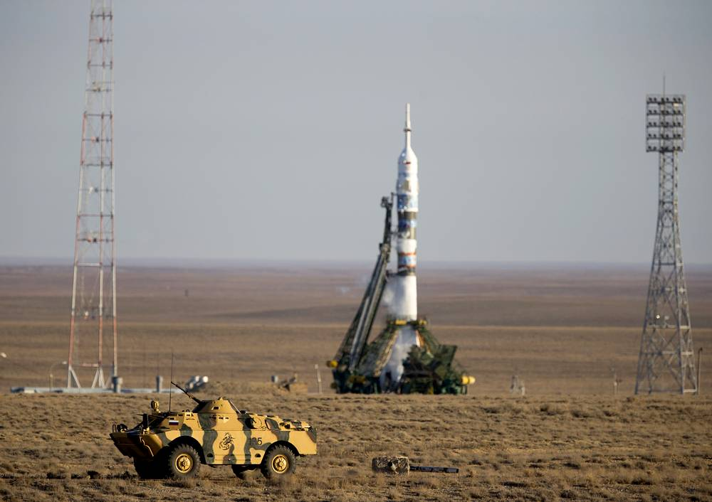 According to the European Space Agency, the most frequently used launch vehicle in the world is Soyuz. Photo: Soyuz-FG rocket booster and Soyuz TMA-11M spaceship launch with the Olympic torch on board at the Baikonur Cosmodrome