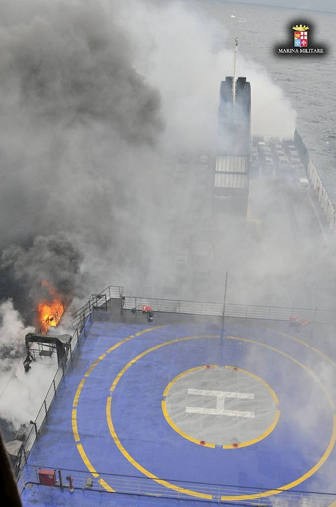 Italian and Greek rescuers have evacuated 211 from ferry Norman Atlantic to cargo ships sailing nearby