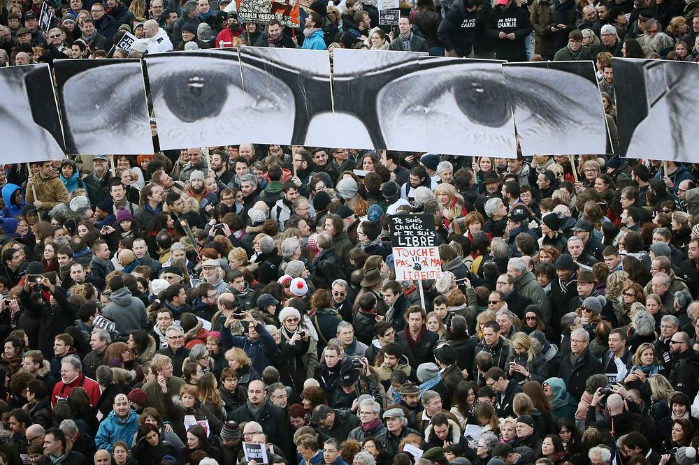 Rallies were also held in other French cities. Photo: People during the march in Paris