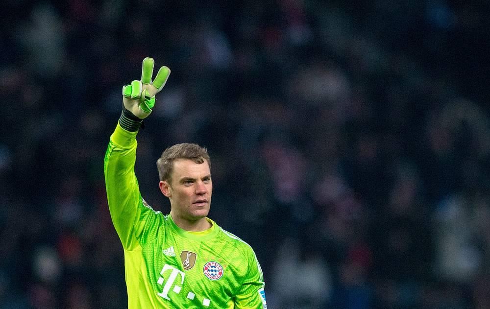 Munich's goalkeeper Manuel Neuer