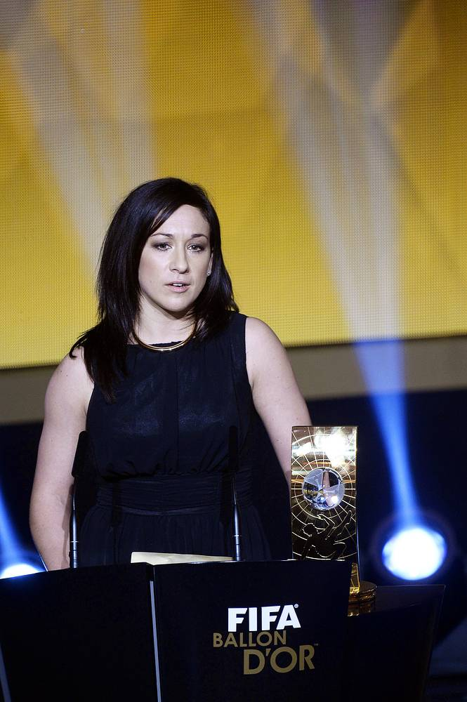 German soccer player Nadine Kessler received the FIFA Women's World Player of the Year 2014 award
