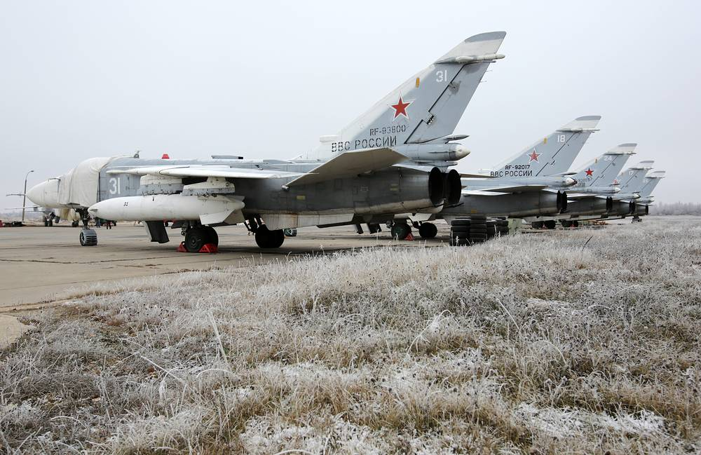 Su-24 supersonic all-weather attack aircrafts