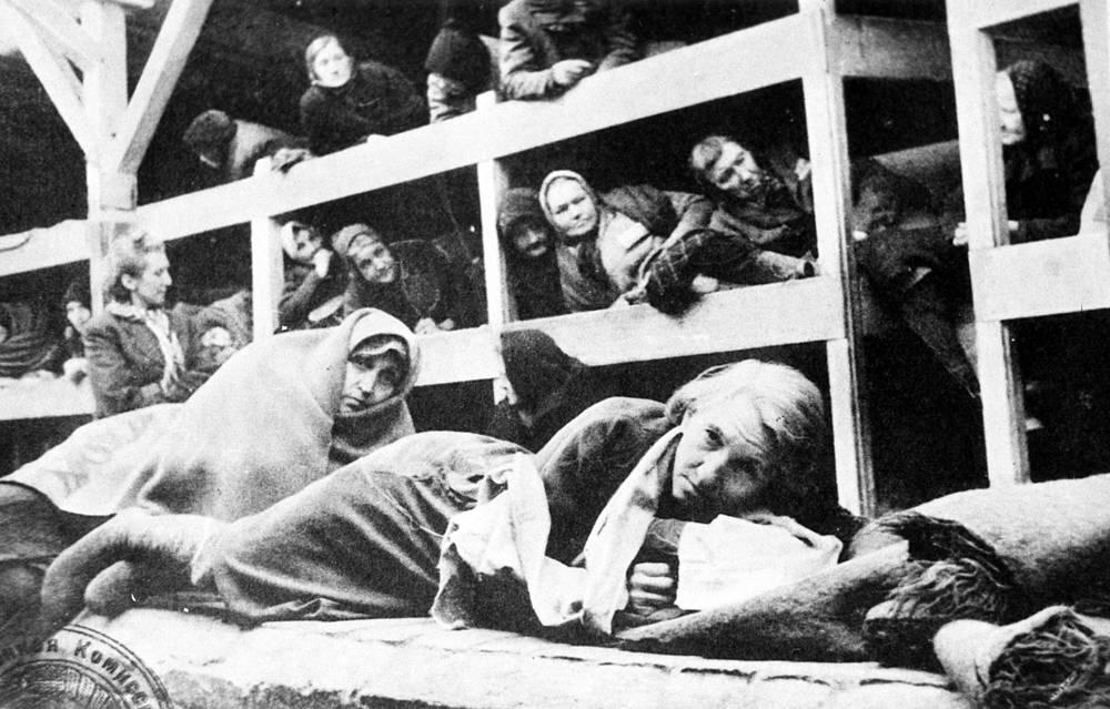 Prisoners of  Auschwitz-Birkenau concentration camp, 1944