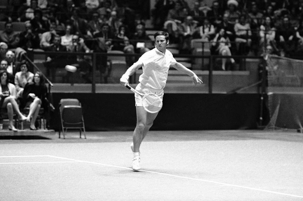 Roy Emerson is an Australian former number one tennis player who won Australian Open 6 times, in 1961, 1963, 1964, 1965, 1966 and 1967. Photo:  Australia's veteran tennis star Roy Emerson, 1969