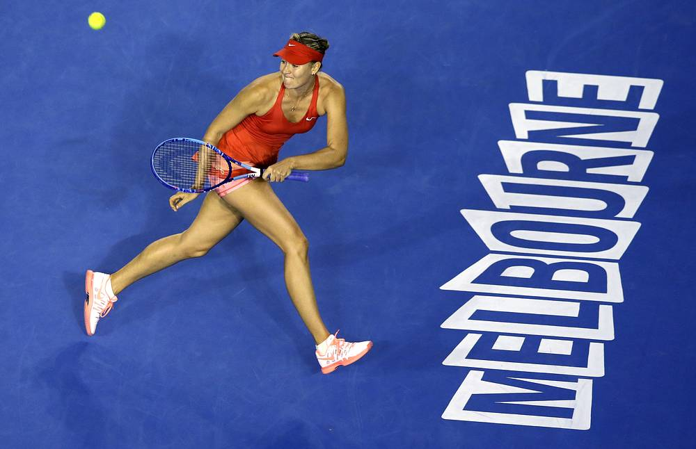 Maria Sharapova began her way at Australian Open 2015 with a convincing 6-4, 6-1 victory over Petra Martic of Croatia