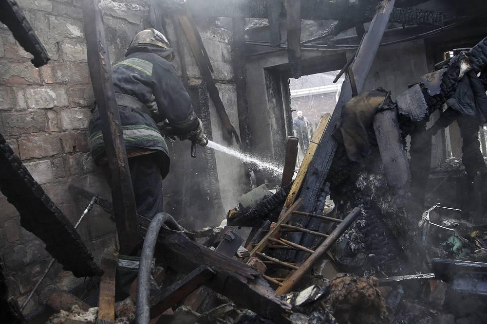 Photo: Damaged building after shelling in Donetsk