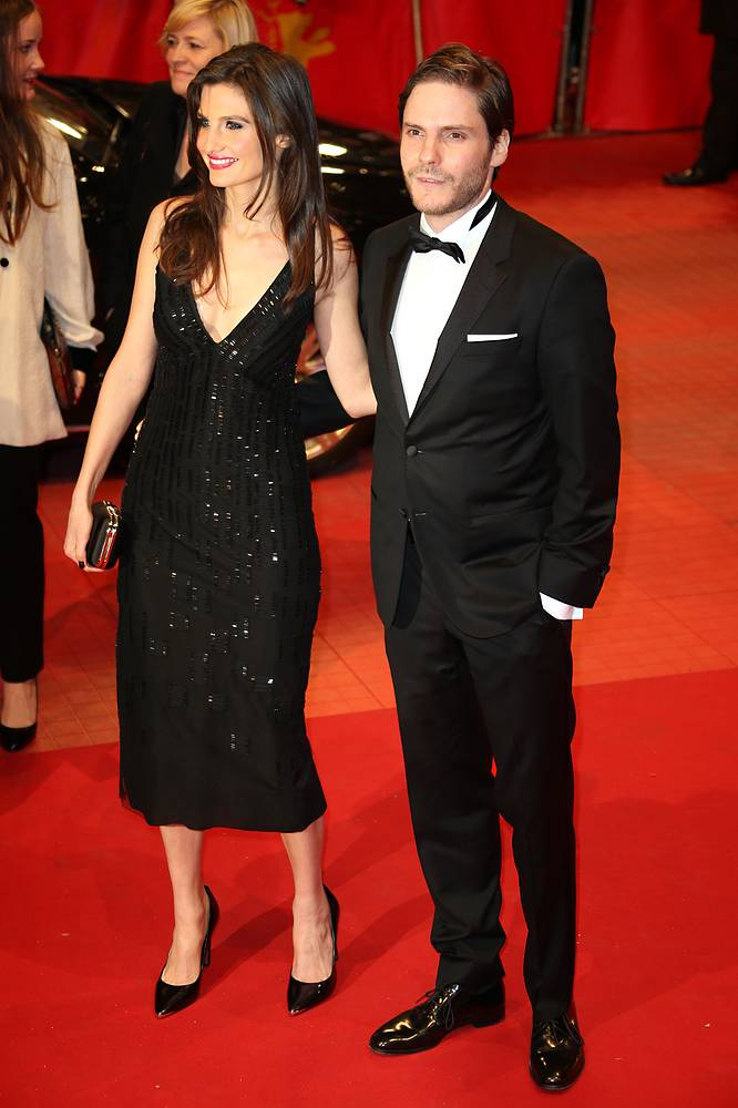 German actor Daniel Bruehl and Felicitas Rombold in Berlinale Palace
