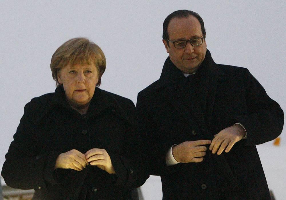 Angela Merkel and Francois Hollande
