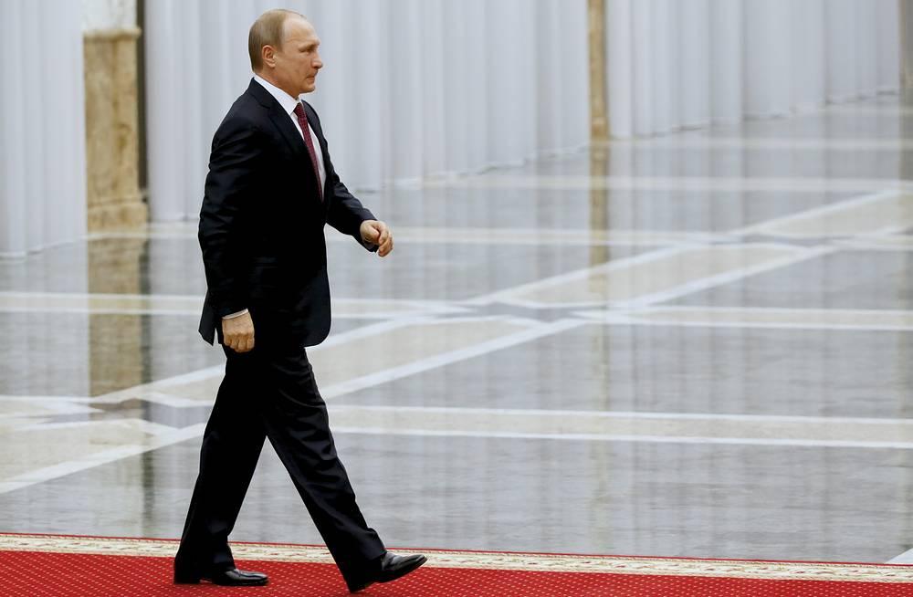 Russian President Vladimir Putin heading for talks in Minsk