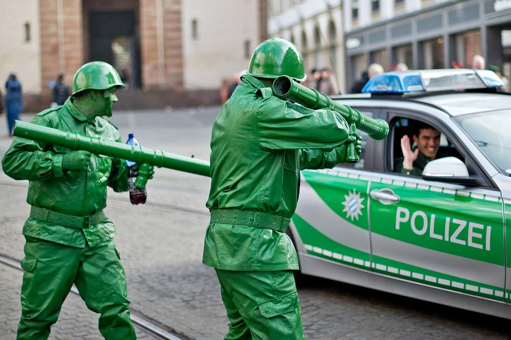 Carnival parade in Wuerzburg, Germany
