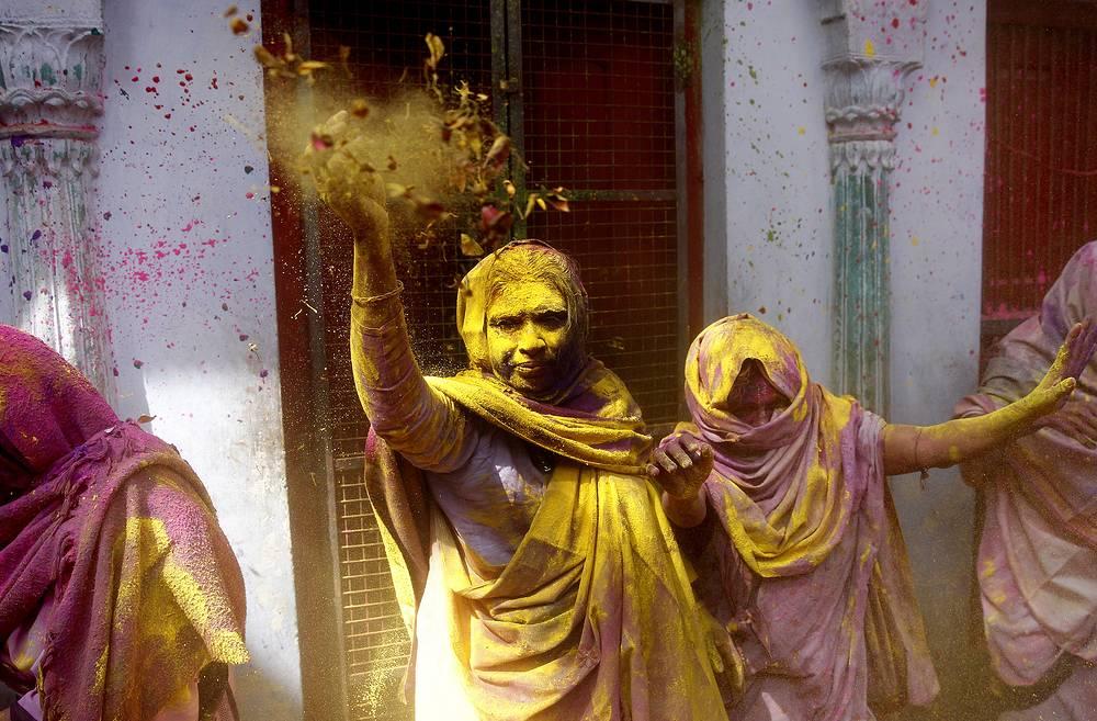 Holi festival in Vrindavan, Uttar Pradesh, India