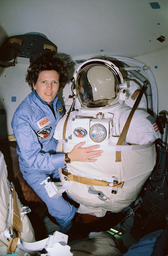 Kathryn Sullivan became the first American woman to walk in space. She performed the first EVA during Space Shuttle Challenger mission STS-41-G on October 11, 1984