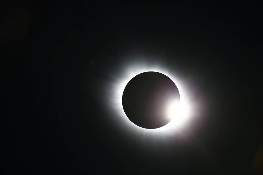 The total solar eclipse at Svalbard, Norway