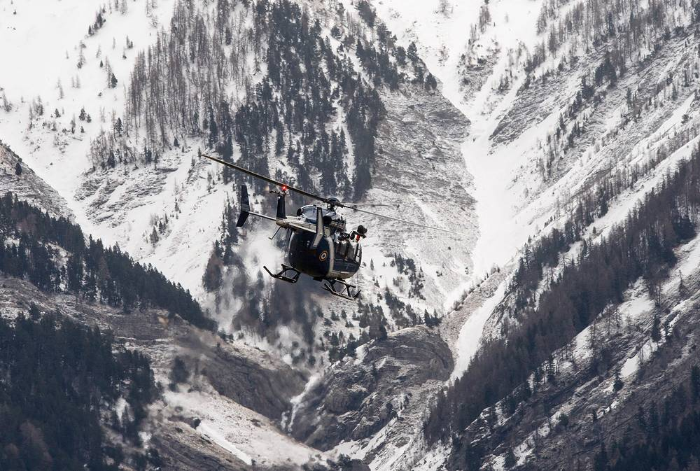 Search and investigation work resumed at the site where a Germanwings Airbus A320 crashed in the French Alps near Digne on March 24, 2015, killing all 150 people on board