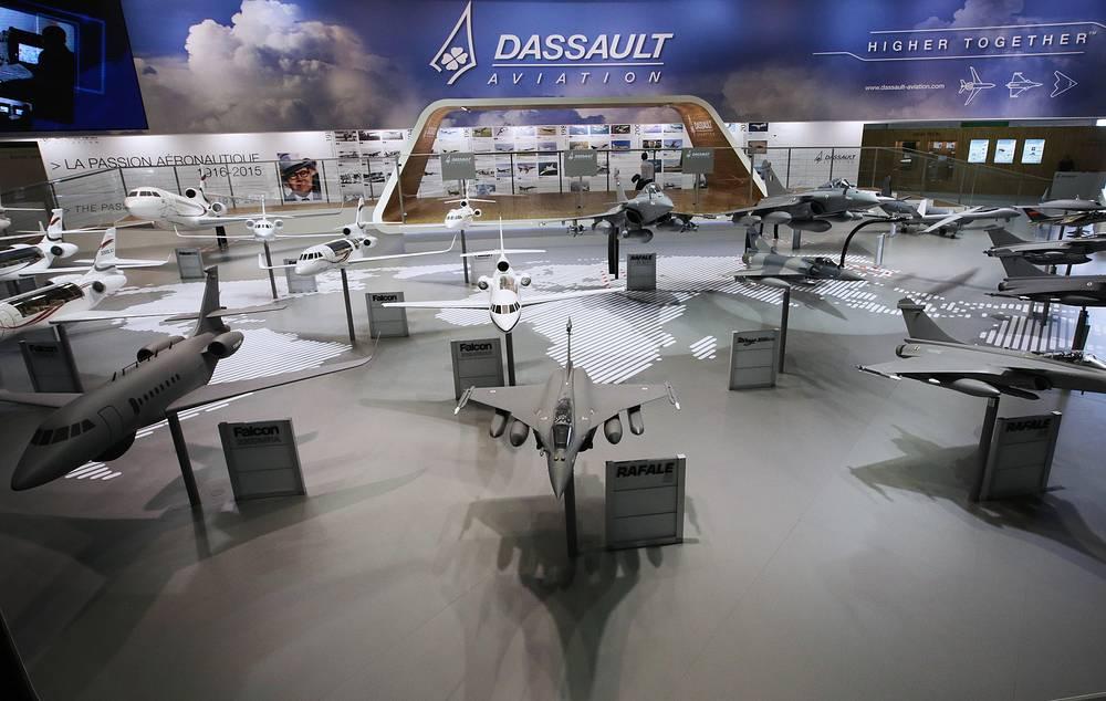 Dassault stand at the Paris Air Show-2015
