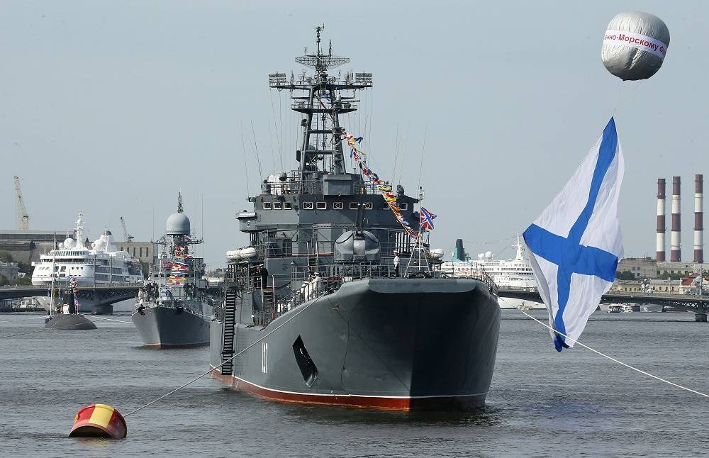 Naval ships in St. Petersburg