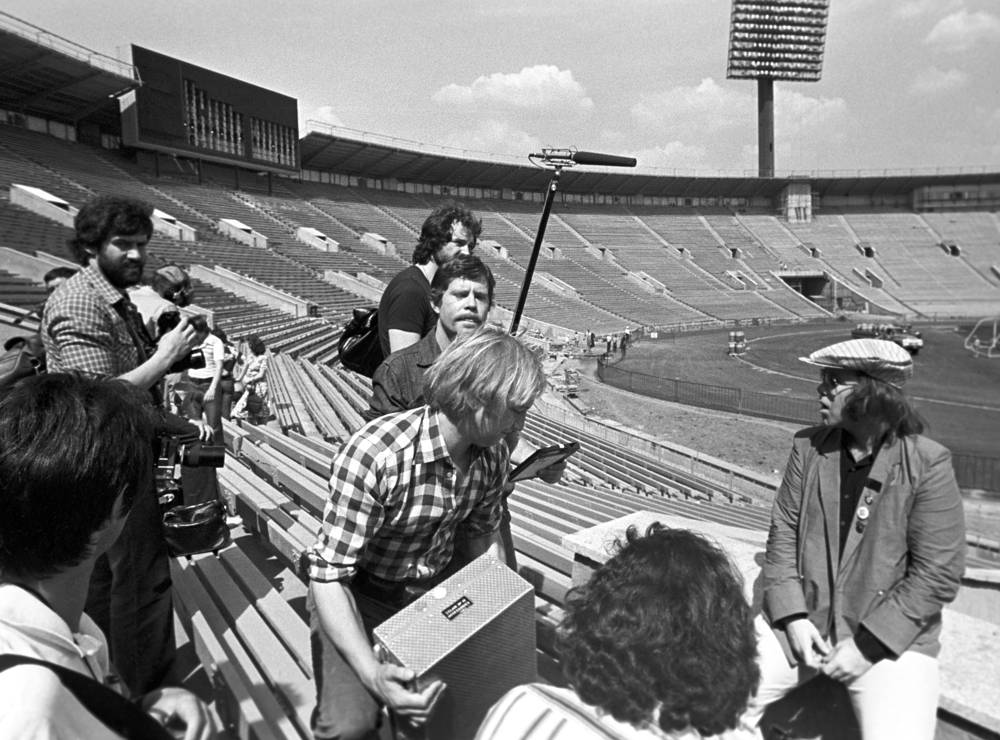 Apart from sporting events artists such as Michael Jackson, The Rolling Stones, Madonna, Metallica, U2 performed their concerts in the stadium. Photo: Elton John at the Luzhniki stadium, 1979