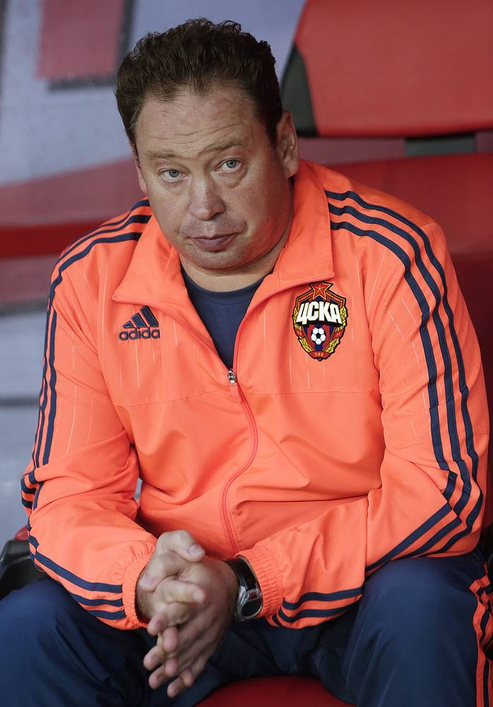 Manager of CSKA Moscow football club Leonid Slutsky