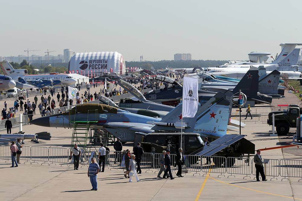 The opening of the MAKS 2015 International Air Show