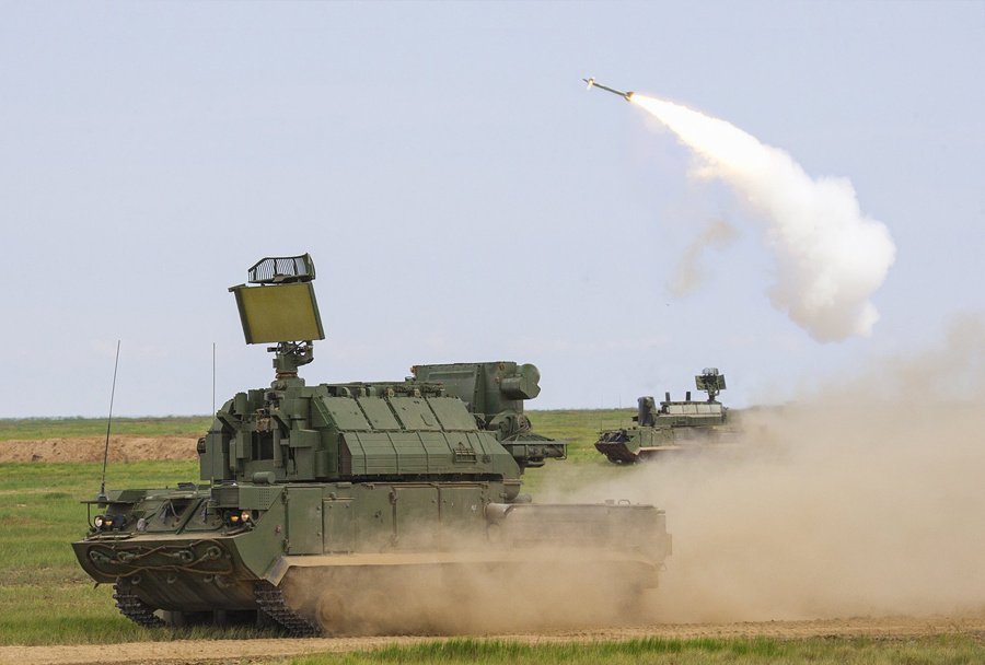 TOR-M1 surface-to-air missile system is a mobile, integrated air defense system, designed for operation at medium, low and very low altitudes